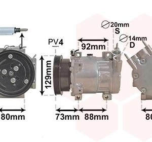 Compressor, airconditioning 1501K705