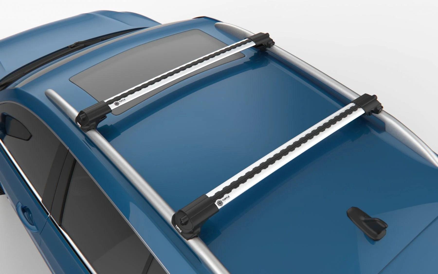 renault kadjar premium roof rack cross bars bright silver