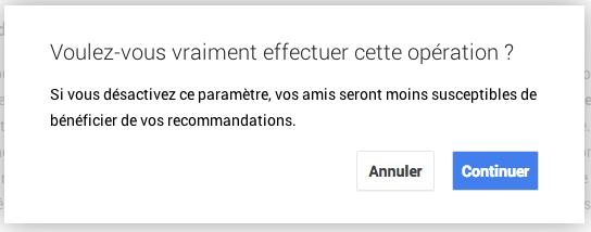 Google notification culpabilisante
