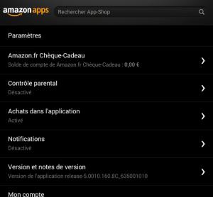 Paramètres App-Shop