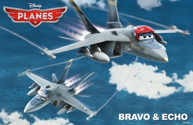 Planes Bravo et Echo
