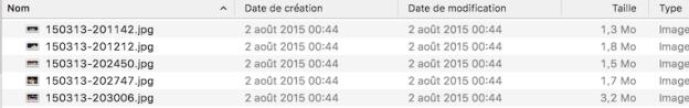 Un gestionnaire de fichier vous affiche la date de création du fichier