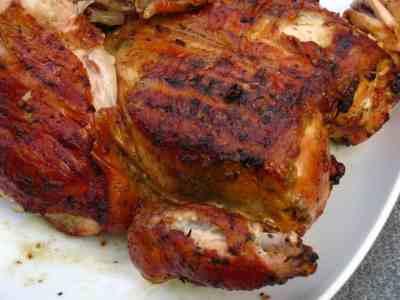 Grilled Butterflied Chicken, Thai Brined