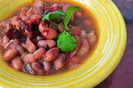 Pressure Cooker Pinto Beans in a Tex-Mex Broth