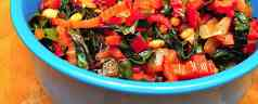 Swiss Chard Sauteed With Pine Nuts and Raisins