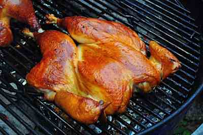 Grilled Butterflied Chicken with Dry Brine