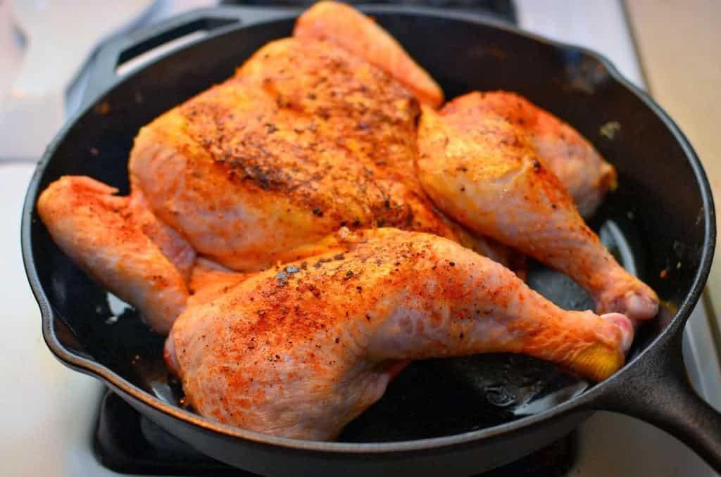 Cast Iron Roasted Butterflied Chicken Dadcooksdinner