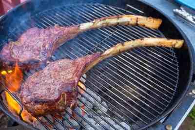 Grilled Tomahawk Steak (Long Bone Ribeye, Reverse Seared)