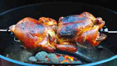 Rotisserie Barbecued Chicken