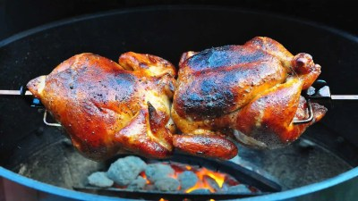 Rotisserie Barbecued Chicken