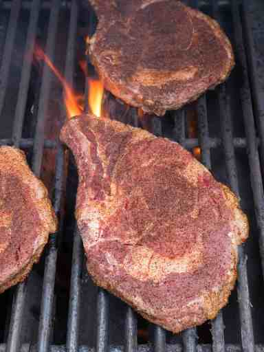 Grilled Ribeye Steaks with Tex-Mex Rub | DadCooksDinner.com
