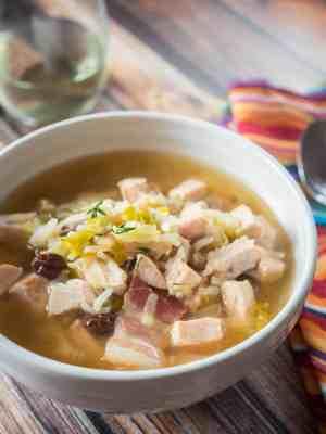 Pressure Cooker Turk-A-Leekie Soup