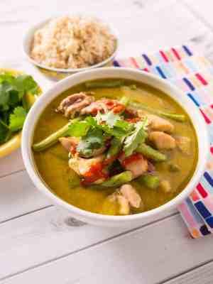 Pressure Cooker Thai Green Chicken Curry