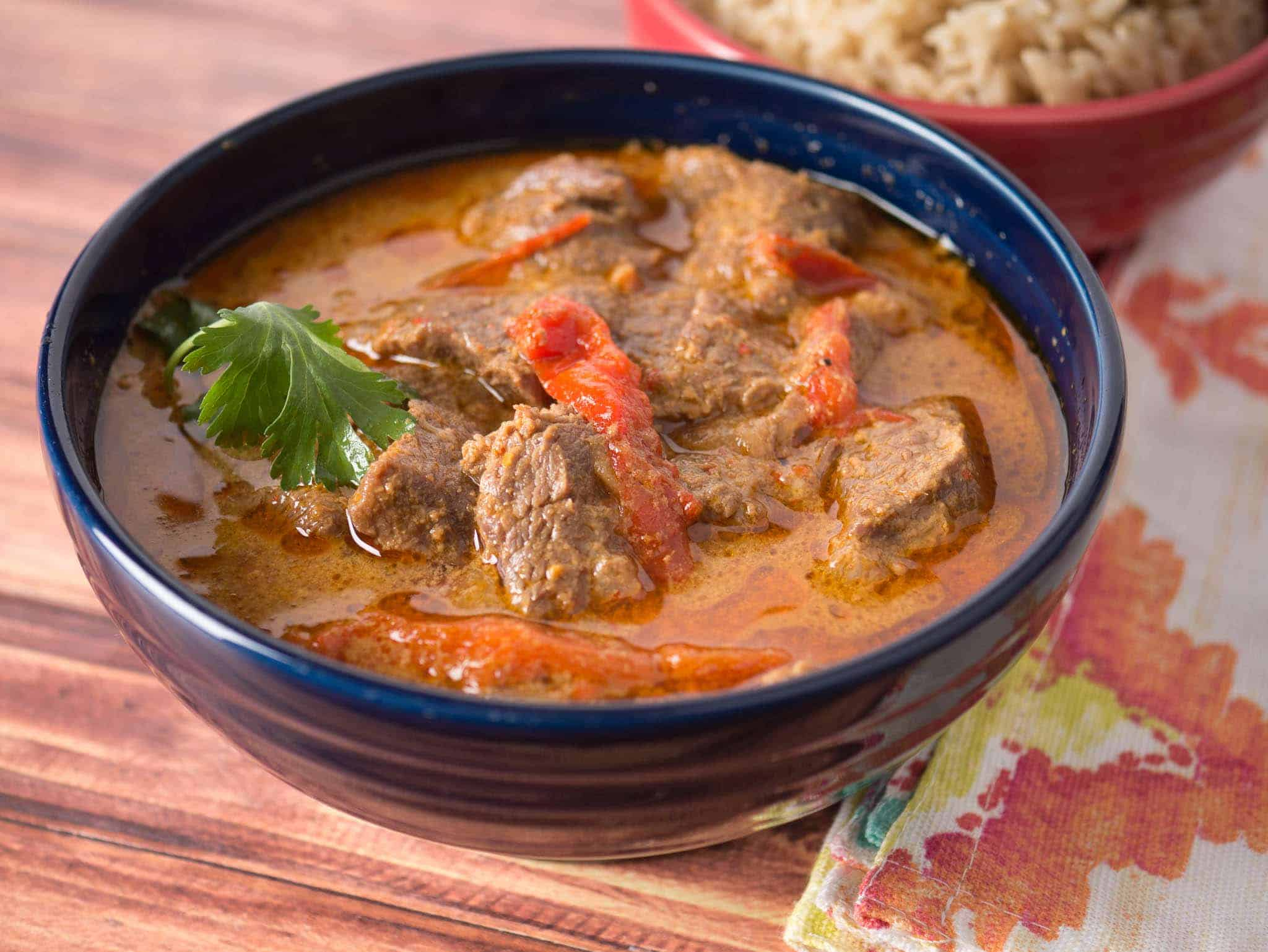 Pressure Cooker Thai Red Beef Curry - DadCooksDinner