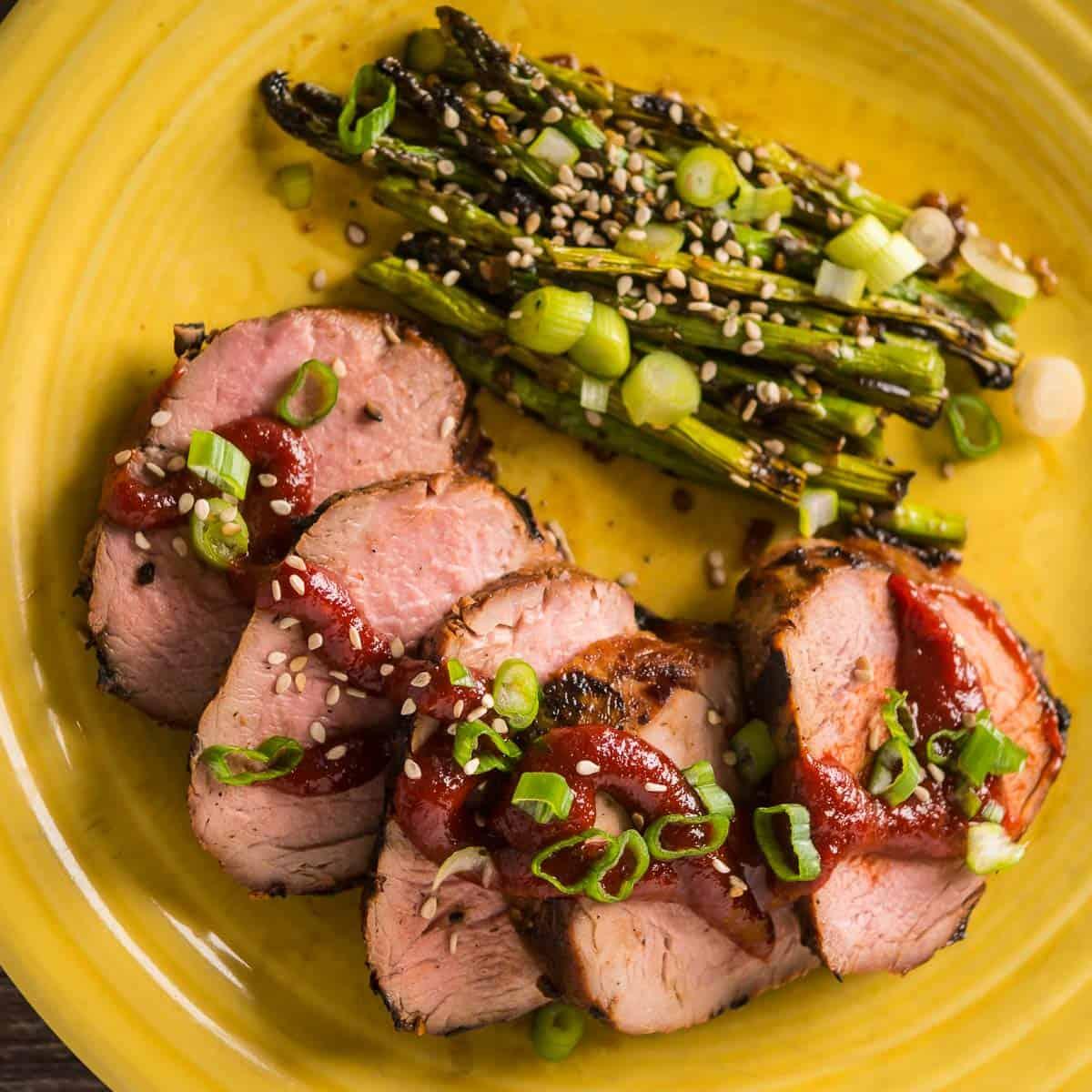 Grilled Pork Tenderloin with Gochujang Marinade - DadCooksDinner