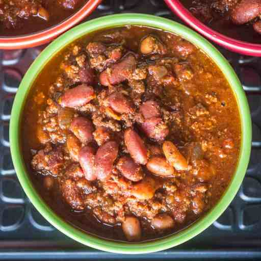 Pressure Cooker Quick Chili with Canned Beans | DadCooksDinner.com