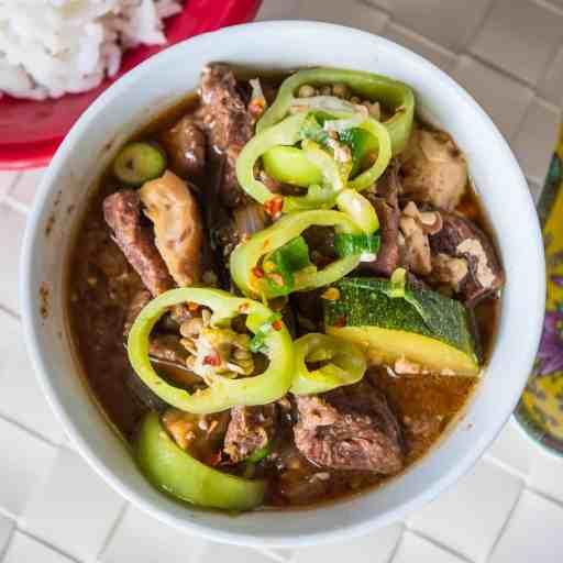 Pressure Cooker Korean Beef Stew (Doenjang Jjigae) | DadCooksDinner.com