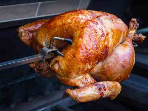 Rotisserie Turkey Stuffed with Herbs | DadCooksDinner.com