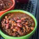 Pressure Cooker Big Batch of Quick Chili in an 8 Quart Pressure Cooker | DadCooksDinner.com