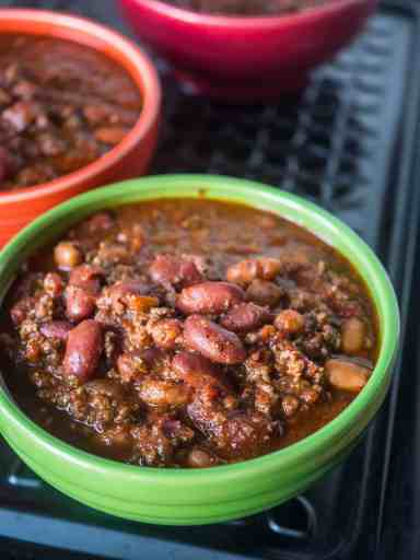 Big Batch of Quick Chili in the 8 Quart Pressure Cooker | DadCooksDinner.com