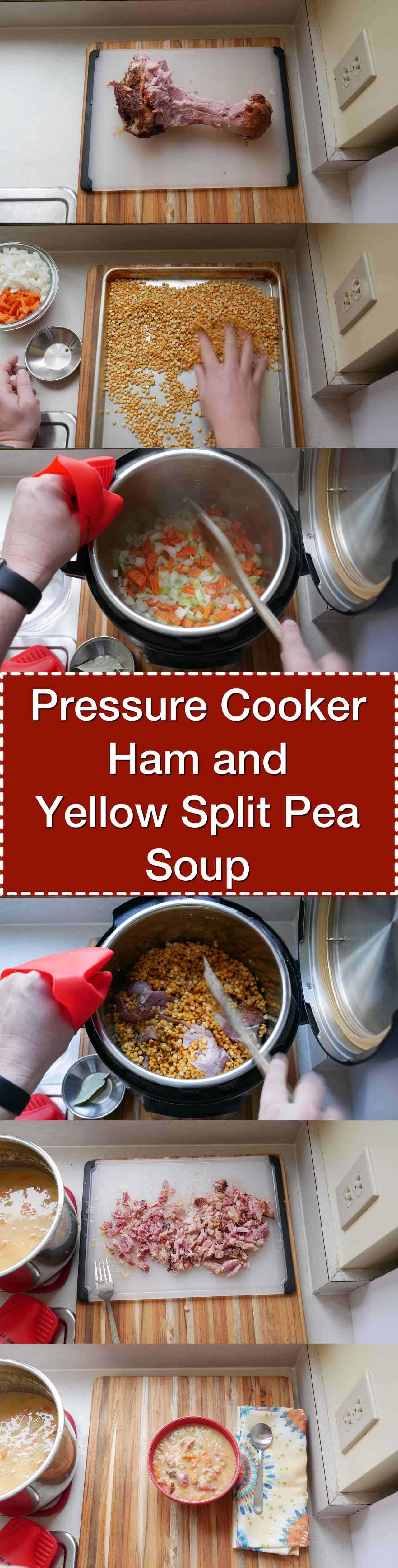 split pea soup with ham pressure cooker