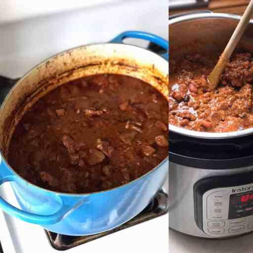 Ready for the Super Bowl - two big pots of chili | DadCooksDinner.com