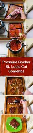 Pressure Cooker St Louis Cut Spareribs   DadCooksDinner.com