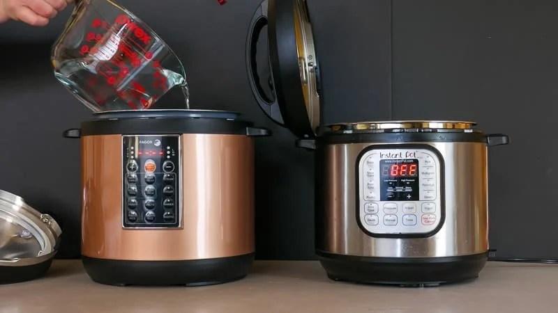 Fagor Lux Vs Instant Pot Time To Pressure Showdown Dadcooksdinner
