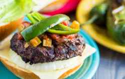 Jalapeno Cheeseburgers With Grilled Onions