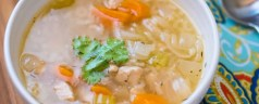 Pressure Cooker Chicken Soup With Rice (From Scratch)
