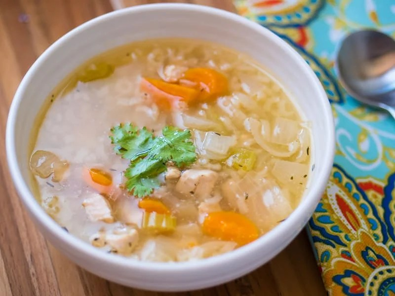 Pressure Cooker Chicken Soup With Rice From Scratch Dadcooksdinner