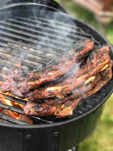 Korean style short ribs on the grill | DadCooksDinner.com