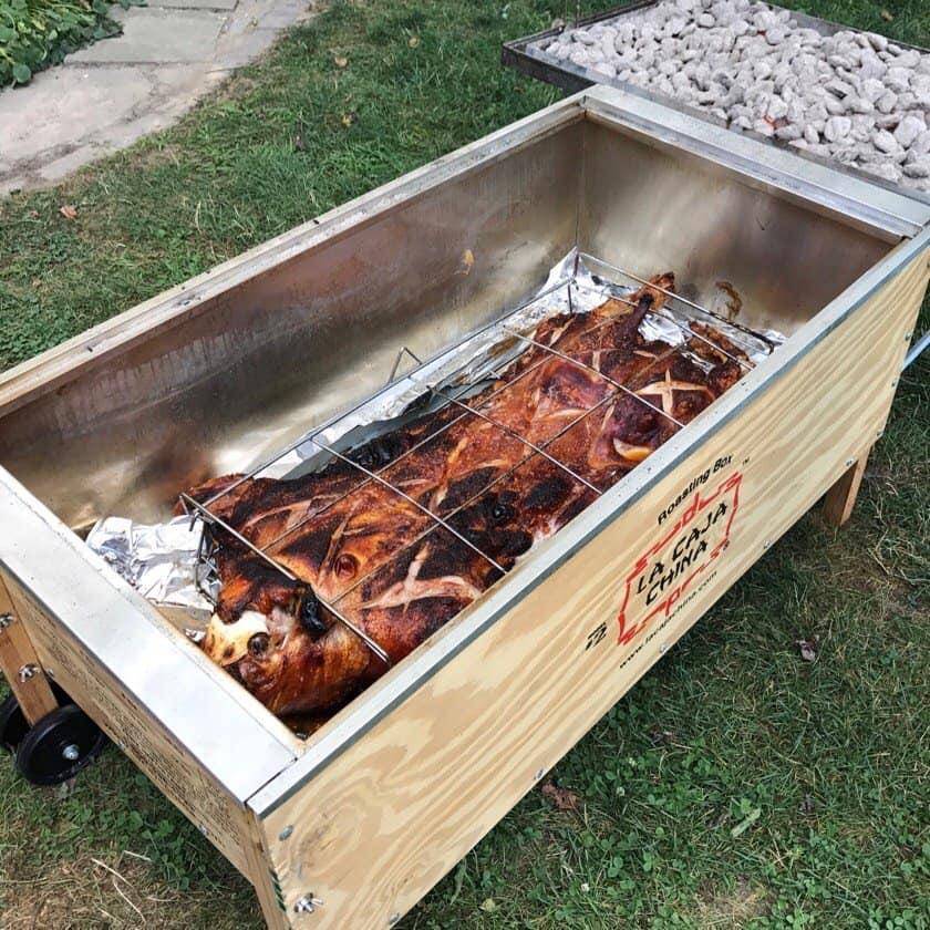 La Caja China Pig Roast   DadCooksDinner.com