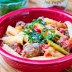 Pressure Cooker Penne with Sausage and Peppers | DadCooksDinner.com