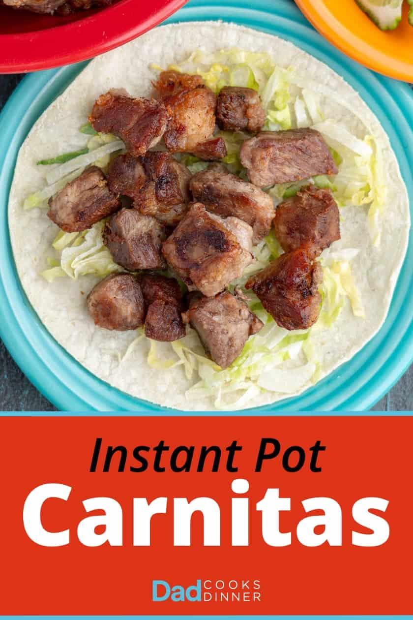 Instant Pot Carnitas | DadCooksDinner.com #InstantPot #InstantPotRecipe #PressureCooker #PressureCookerRecipe #Pork #Tacos