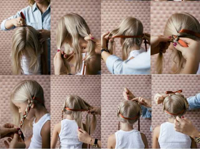children's braided hairstyles step by step