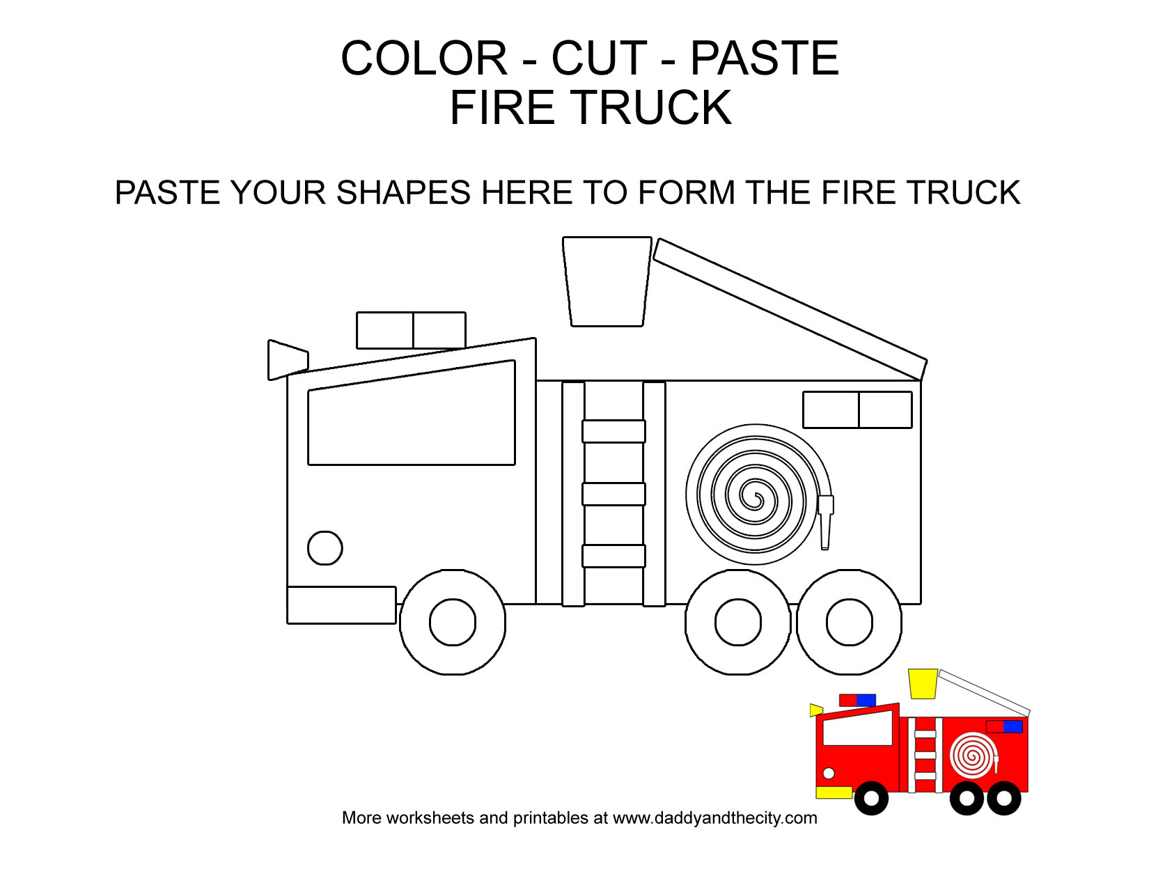 Cut And Paste Car Worksheet