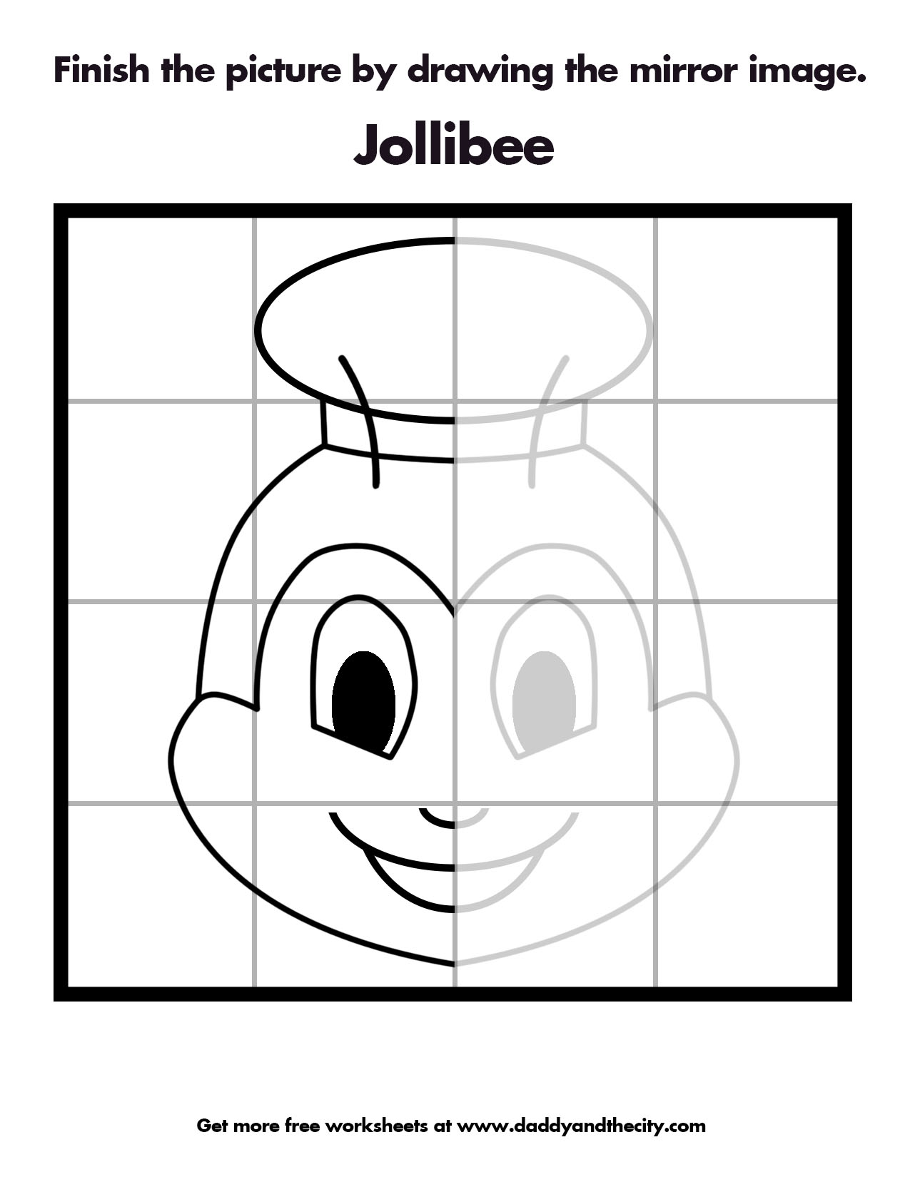 Jollibee Mirror Image Worksheet Daddy And The City