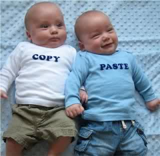 Copy and Paste Baby Twins Onesies