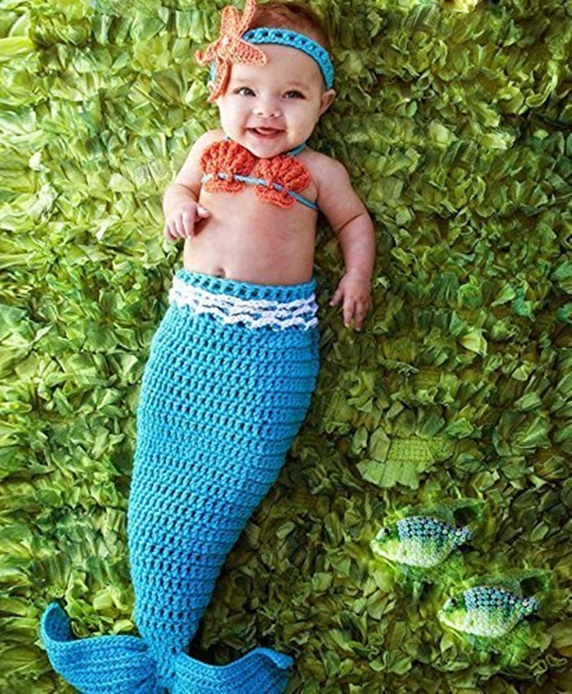 Crochet Mermaid Tail Romper