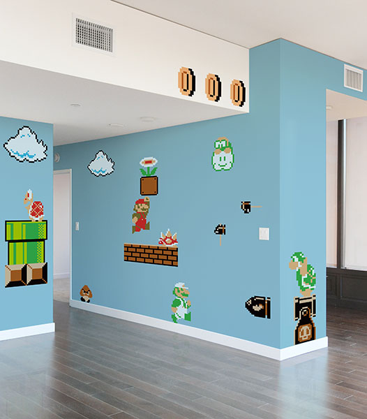 8 Bit Mario Bros Wall Decals