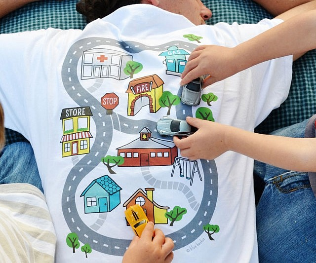massage car carpet city shirt daddy check this out