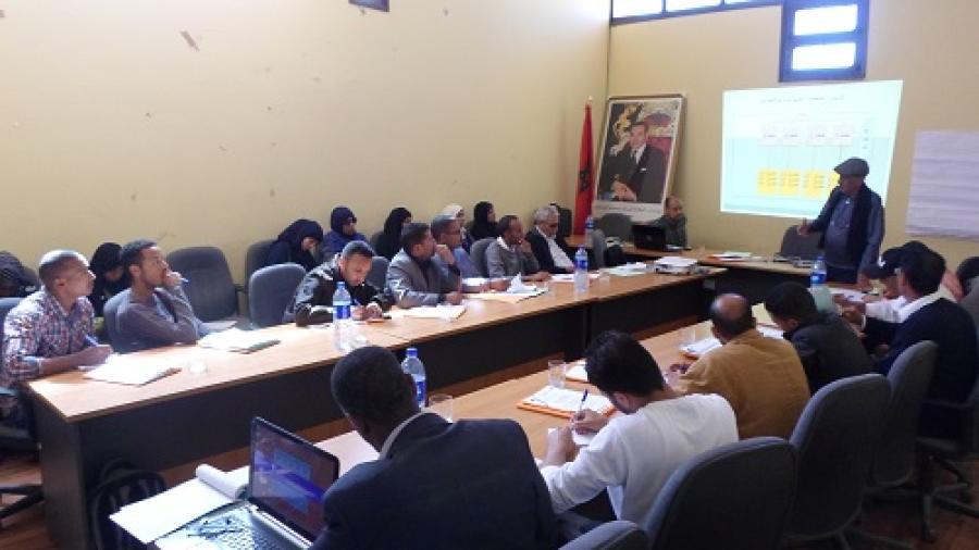 جماعة سوق الخميس دادس تنظم بشراكة مع مشروع الديمقراطية التشاركية أيام تكوينية حول اعداد برنامج العمل الجماعي