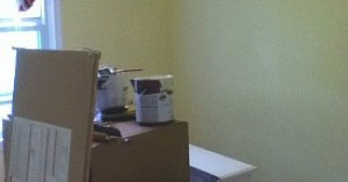 Image of pink room now painted cream