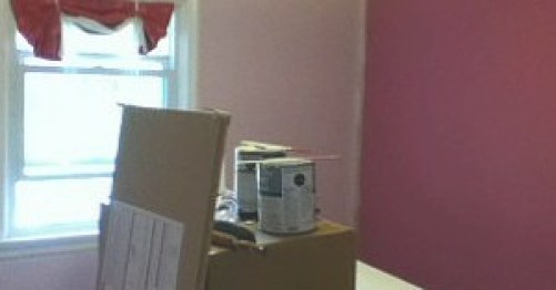 Image of a pink bed room
