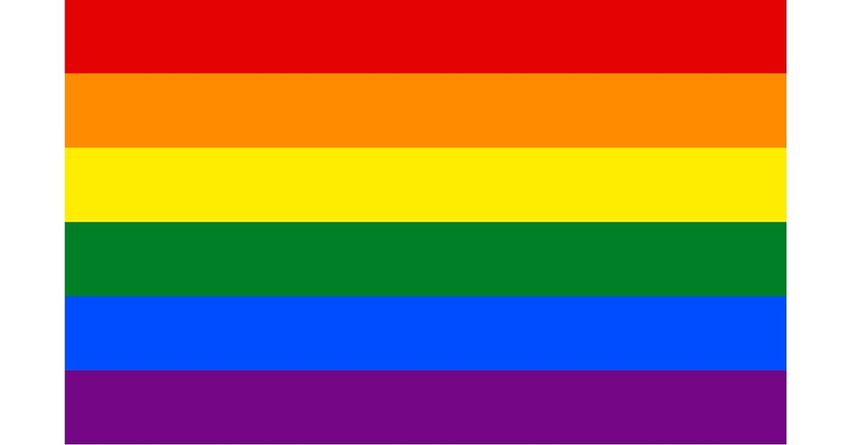 Image of a rainbow flag