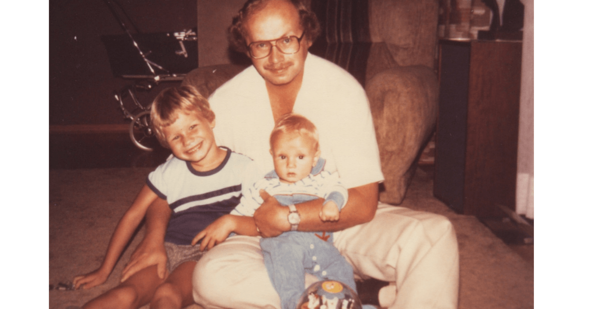 Image of my dad, my brother and I when we were little