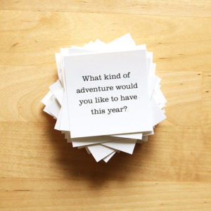 Image of a stack of conversation starter cards
