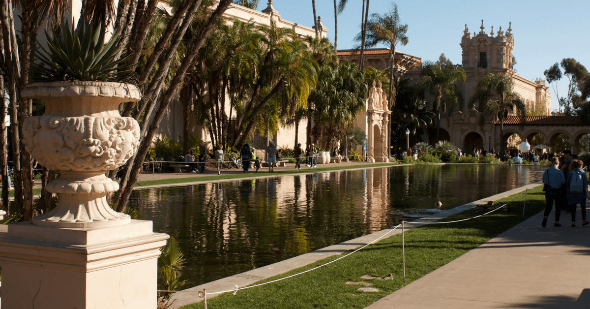 Image of a reflecting pool at Balboa Park