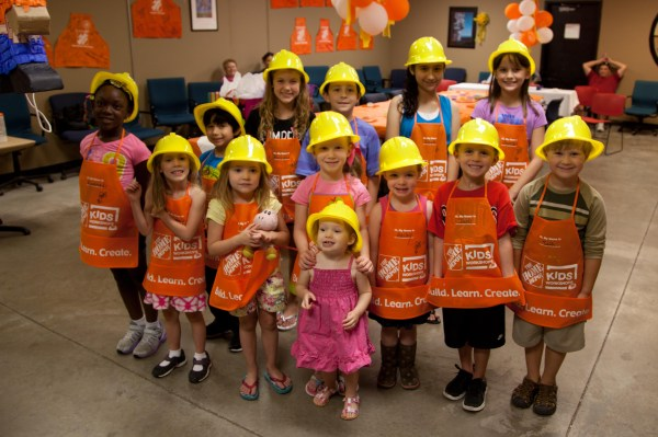 Birthday Party at Home Depot - Dad Is Learning